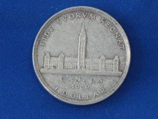 1939 Canada Silver Dollar B1068 photo