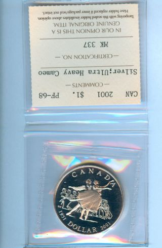 2001 Canada Silver Dollar National Ballet Proof Coin photo