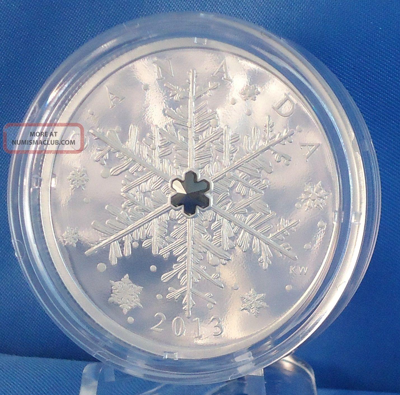 Canada 2013 Winter Snowflake 1 Oz Pure Silver 20 Proof