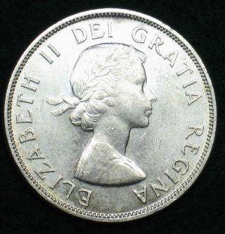 1963 Canadian Silver Dollar Grading Choice Bu 600 Asw T201 photo