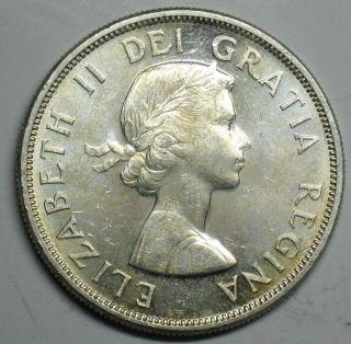 1963 Canadian Silver Dollar Grading Choice Bu 600 Asw T204 photo
