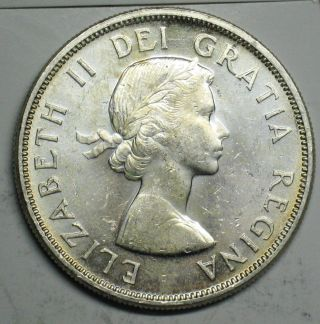 1963 Canadian Silver Dollar Grading Choice Bu 600 Asw T207 photo