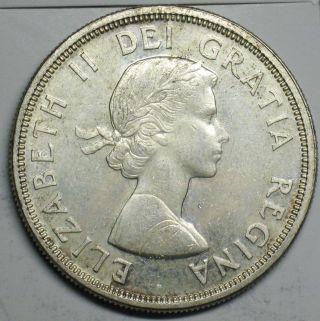 1964 Canadian Silver Dollar Grading Choice Bu 600 Asw T206 photo