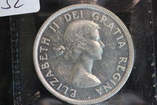 1955 Canada.  1$ Dollar.  Voyageur.  Iccs Graded Au - 55.  (xrp152) photo