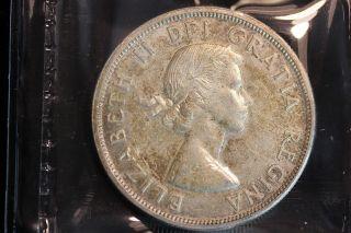 1963 Canada.  1$ Dollar.  Voyageur.  Iccs Graded Au - 55 (xrp166) photo
