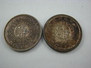 Canada 2x Dollar 1964 Silver Circulated Coin photo