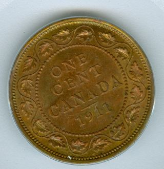 1911 Canada Large Cent Gem Bu Red/br. photo