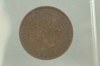 Canada One Cent Prince Edward Island Piece 1871 photo