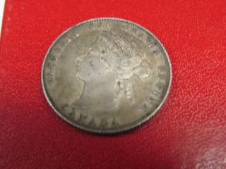1874 Canada Quarter Extra photo