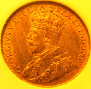 1920 Canada Large Cent Anacs 64 Red Brown photo