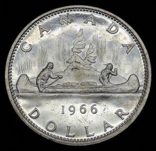 1966 Canada Silver Dollar Asw.  600 Oz Grade Ch Bu B496 photo