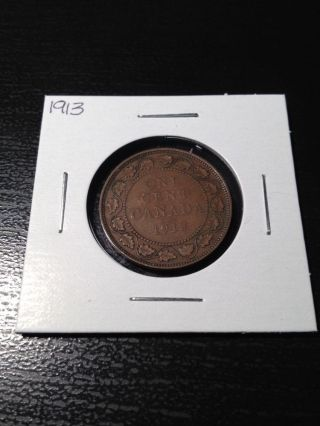 1913 Canadian Large Cent photo