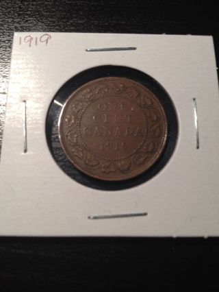 1919 Canadian Large Cent photo