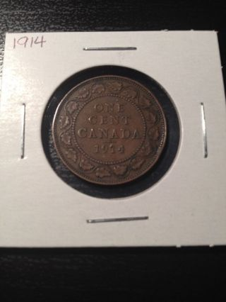 1914 Canadian Large Cent photo