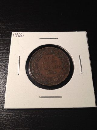 1916 Large Canadian Cent photo