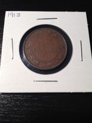 1913 Large Canadian Cent photo