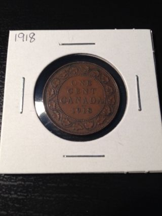 1918 Large Canadian Cent photo