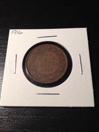 1916 Large Canadian Cent photo