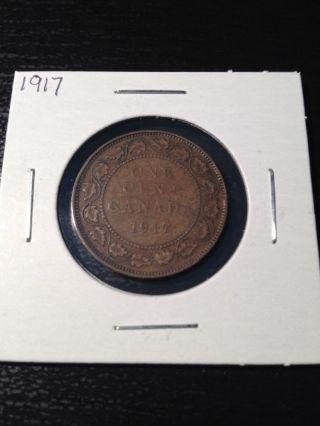 1917 Large Canadian Cent photo