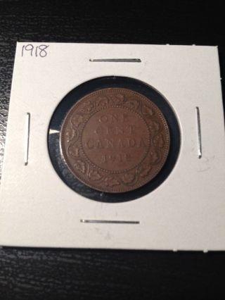 1918 Canadian Large Cent photo