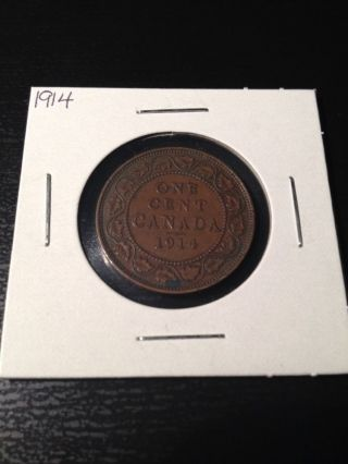 1914 Large Canadian Cent photo