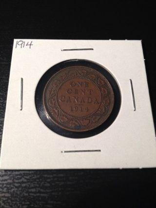 1914 Large Canadian Cent photo