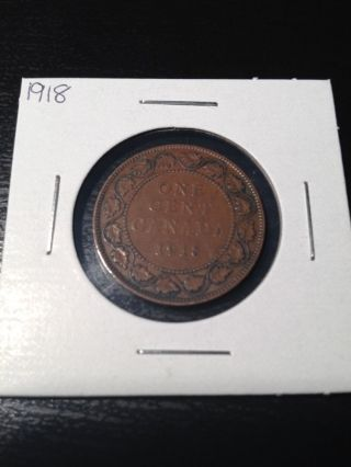 1918 Canadian Large Cent photo