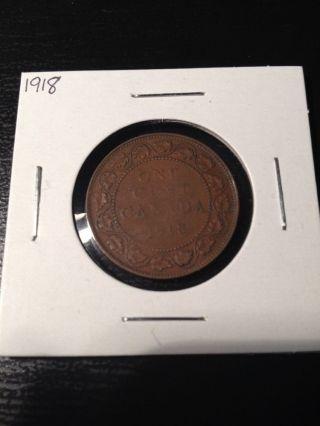 1918 Large Canadian Cent photo