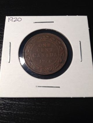1920 Large Canadian Cent photo