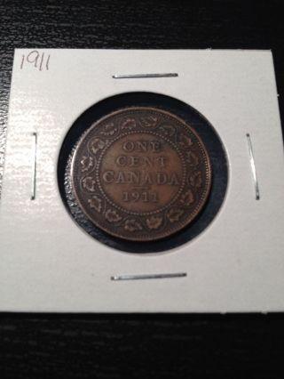 1911 Large Canadian Cent photo