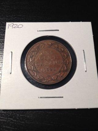 1920 Large Canadian Cent photo