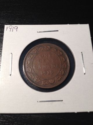 1919 Large Canadian Cent photo