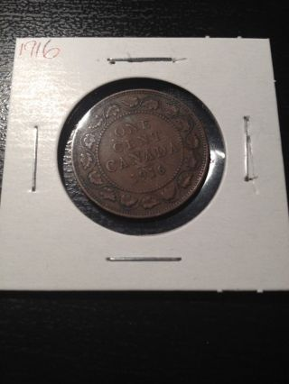 1916 Canadian Large Cent photo