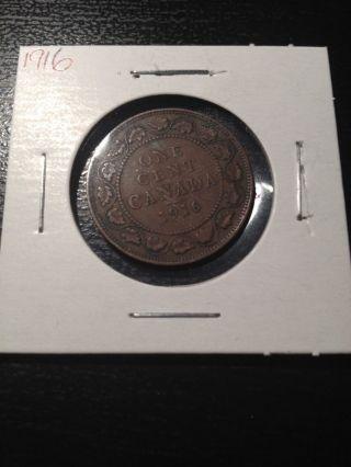 1916 Canadian Large Cent photo