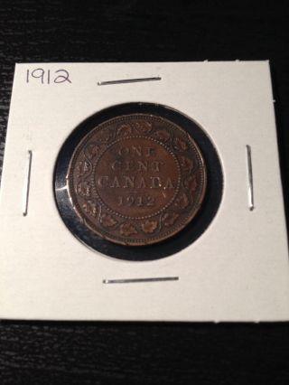 1912 Canadian Large Cent photo