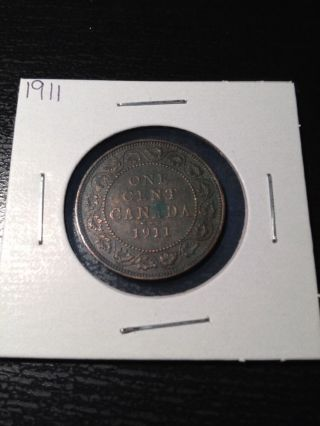 1911 Large Canadian Cent photo