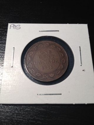 1915 Large Canadian Cent photo