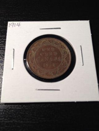 1914 Canadian Large Cent photo