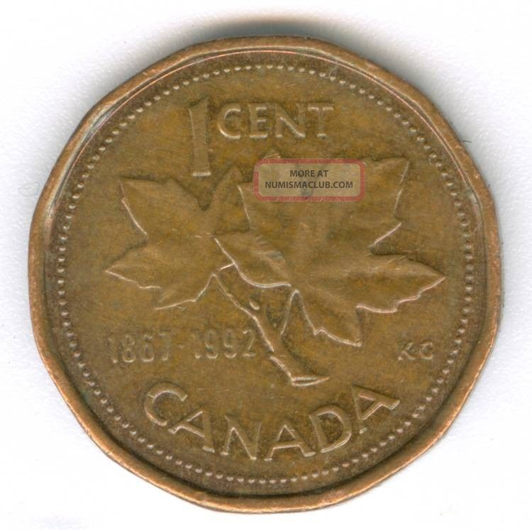 Canada Dominion Of Canada 1992 Canadian 1 Cent Coin Quot 125 Yrs Conf Quot No 1