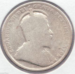 1903 25c Silver Canada Edwardian Quarter 6 photo