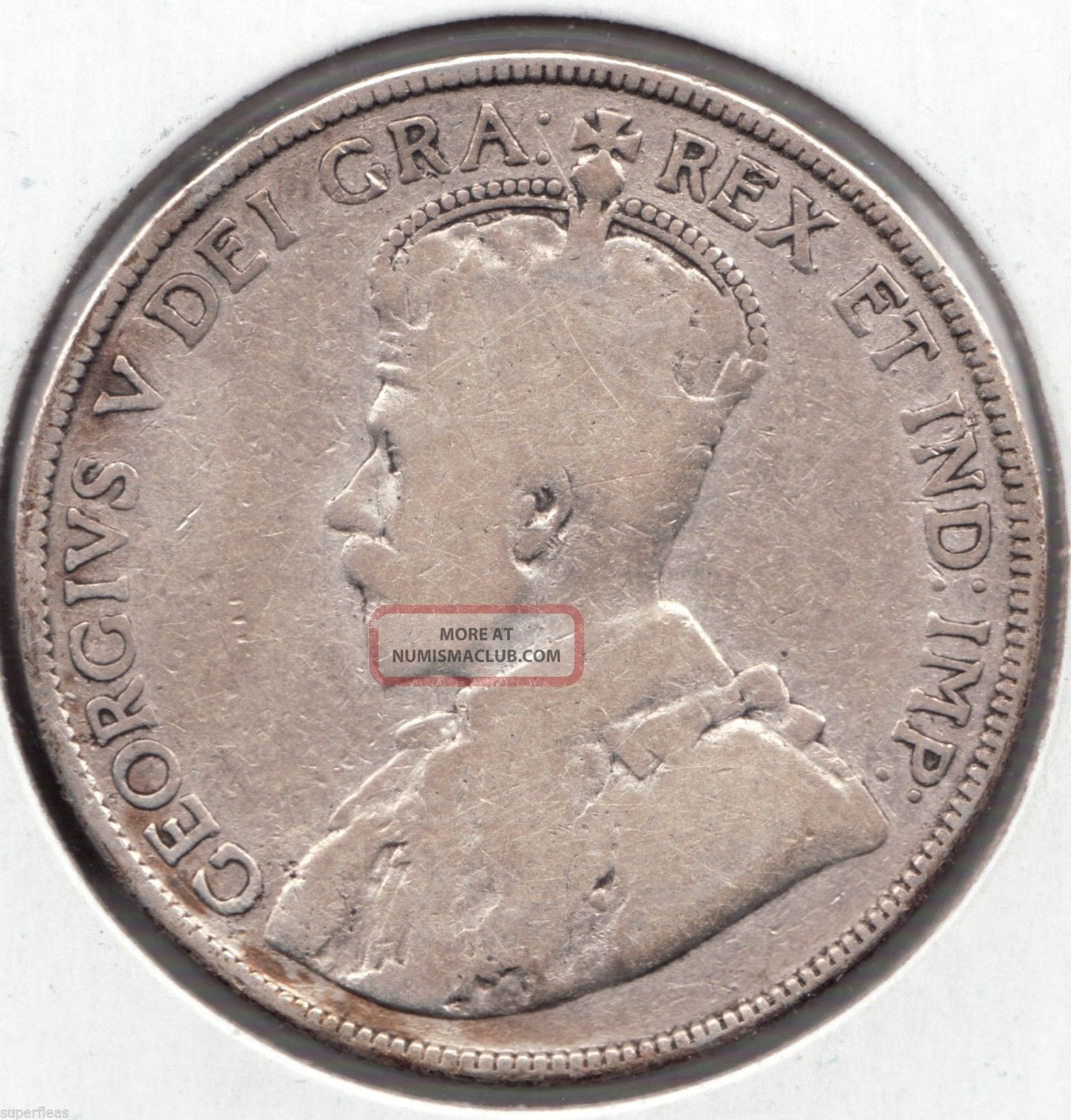 1914 Canada Silver Coin 50c George V 50 Cent Piece Half