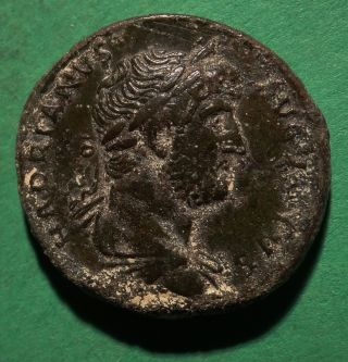 Tater Roman Imperial Ae As Coin Of Hadrian Roma photo