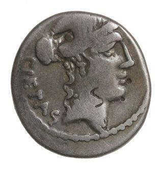 Brutus Albinus 48 Bc Ar Denarius One Of Julius Caesar ' S Assassins Roman Republic photo