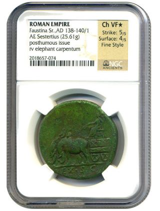 Ad 138 - 140/1 Faustina Sr.  Ae Sestertius Ngc Vf (ancient Roman) photo