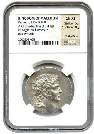 179 - 168 Bc Perseus Ar Tetradrachm Ngc Xf (ancient Greek) photo