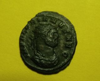 Rare Ancient Roman Billon Ant,  Florian.  23mm,  3g,  276 Ad.  88 Day Emperor photo