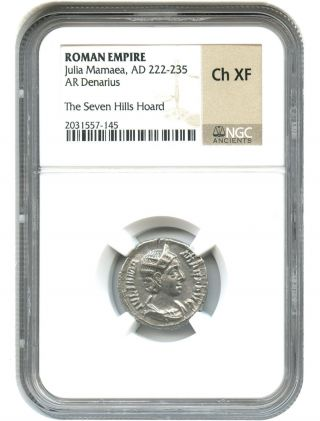 Ad 222 - 235 Julia Mamaea Ar Denarius Ngc Choice Xf (roman Empire) photo