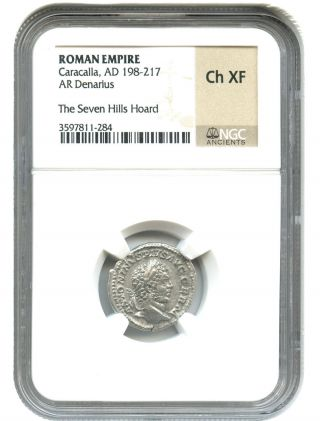 Ad 198 - 217 Caracalla Ar Denarius Ngc Choice Xf (ancient Roman) photo
