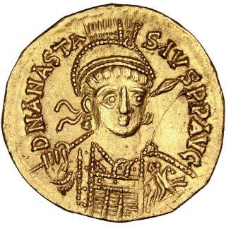 Bysantine Empire,  Anastase,  Solidus photo
