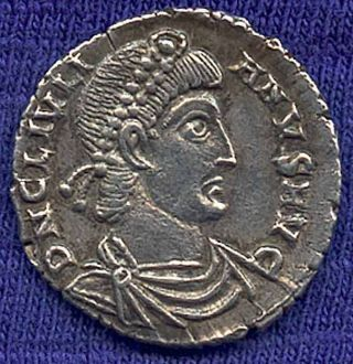 Julian Ii (360 - 362ad) Silver Siliqua From Trier (germany) Very photo